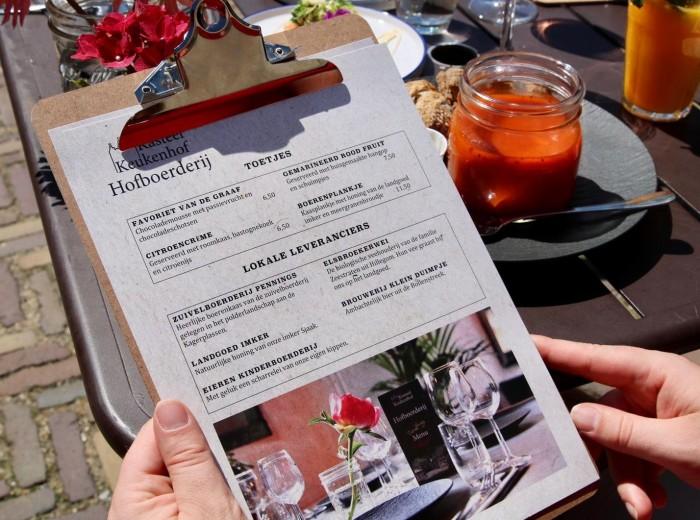 We werken met lokale leveranciers in restaurant De Hofboerderij.