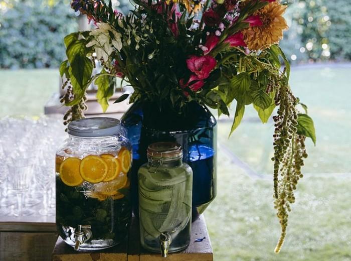 Tuinfeest evenement aan huis Verse bloemen kok Oesters lekkere amusehapjes amuse bites - Homemade Catering Lisse