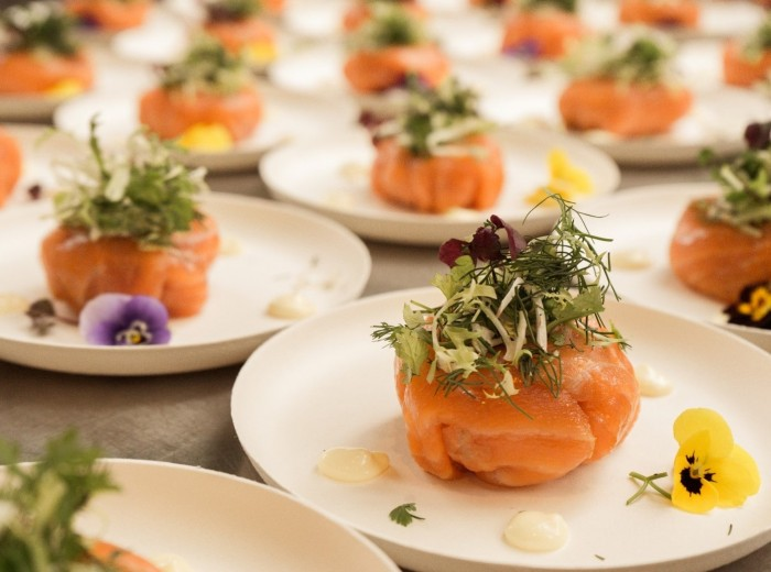 Walking dinner zalm